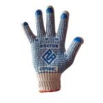 Купить перчатки х/б вязанные с ПВХ точкой «Восток»