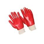 Купить перчатки ПВХ вязанный манжет полное покрытие