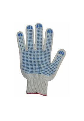 Перчатки х/б вязанные с ПВХ точкой (Украина)