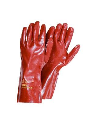 Перчатки ПВХ вязанный манжет полное покрытие манжет 35 см.