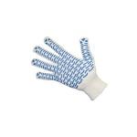 Купить перчатки х/б вязанные с ПВХ точкой «Волна»