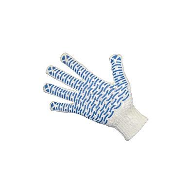 Перчатки х/б вязанные с ПВХ точкой «Волна»