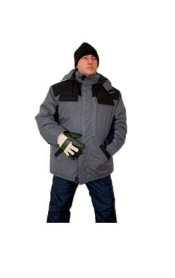 Куртка утепленная «Артика» (серый+черный)