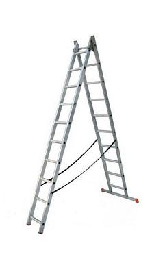Лестница двухсекционная алюминиевая бытовая VINCO