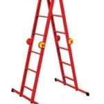 Купить лестница четырехсекционная металлическая бытовая ELKOP