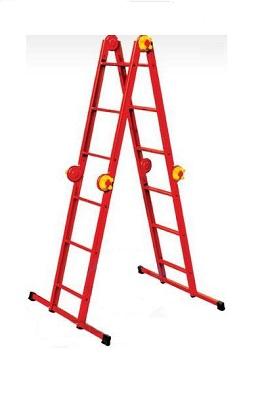 Лестница четырехсекционная металлическая бытовая ELKOP