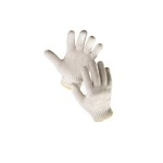 Купить перчатки х/б вязанные (отбеленные)
